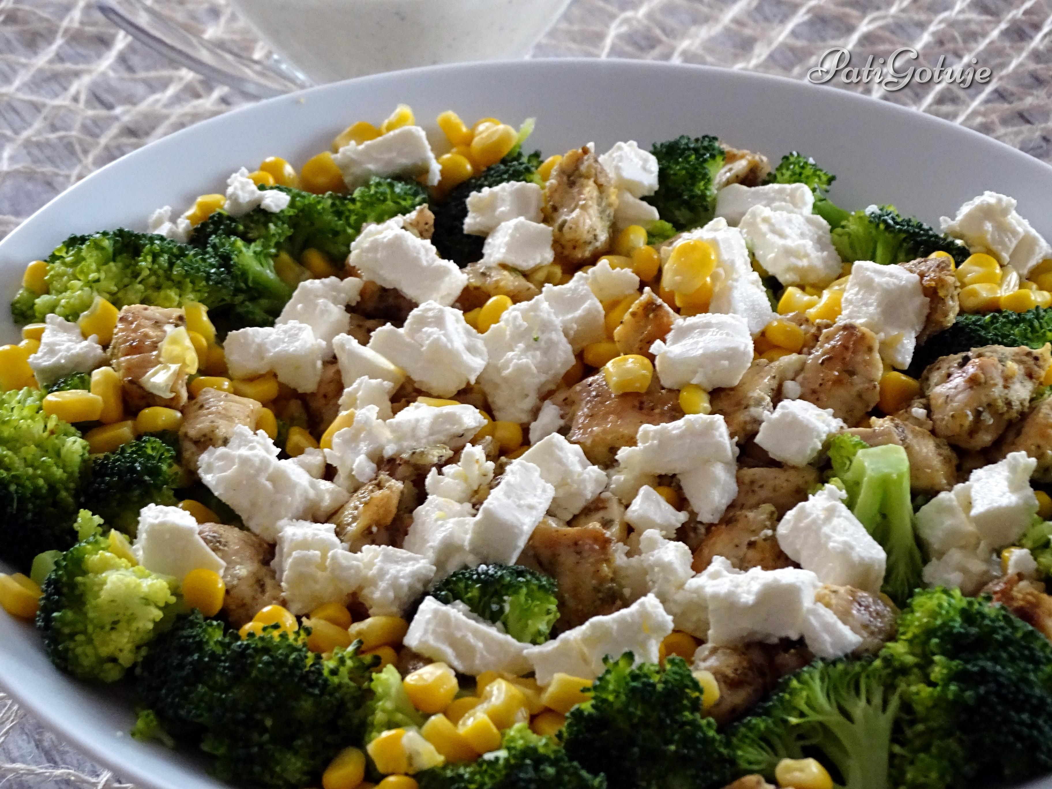 Salatka Z Brokulem I Kurczakiem