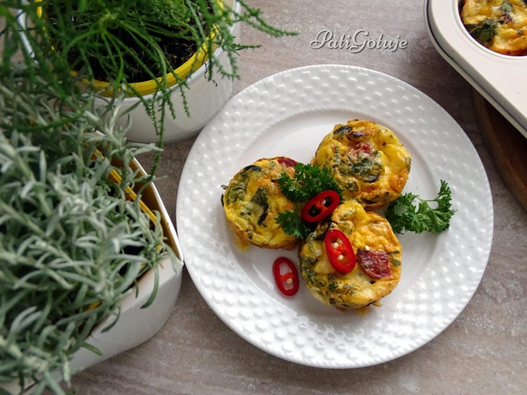 Muffiny jajeczno-ziołowe