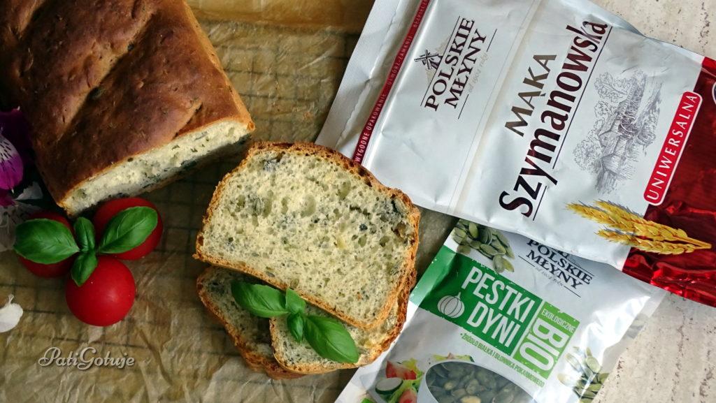 Chleb z serem i pestkami dyni