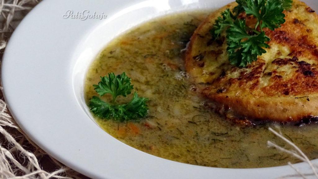 Zupa koperkowa na zasmażce
